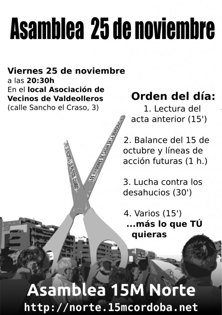 Cartel anuncio asamblea 25 de noviembre